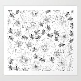 Honeybees and co. Art Print