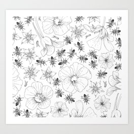 Honeybees and co. Art Print