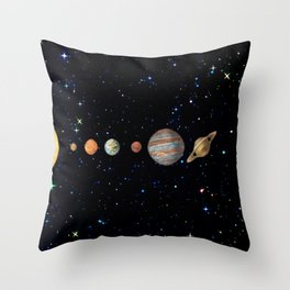 Planetary Solar System Throw Pillow