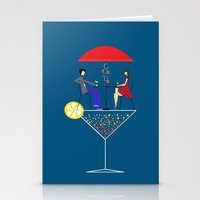 cocktail Stationery Cards featuring Cocktail by Aleksandra Mikolajczak