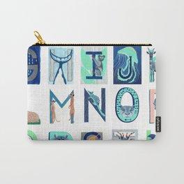 Alphabet Letter Decor Design Art Pattern Carry-All Pouch