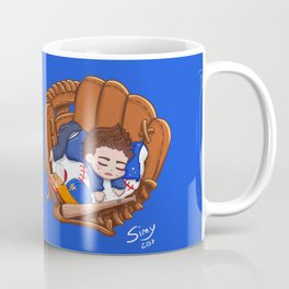 Chibi Baseball Mets Dylan O'Brien Coffee Mug