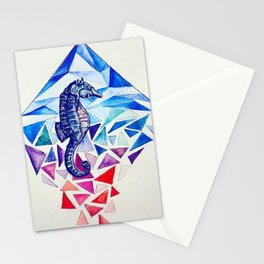 Seahorse on the Ocean floor Stationery Cards