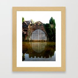 Boat House on the Bridgewater Canal  Framed Art Print