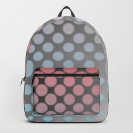 Soft pastels on silver Backpack