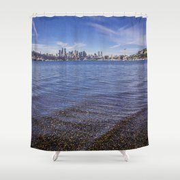 Lake Union and Seattle Skyline Shower Curtain
