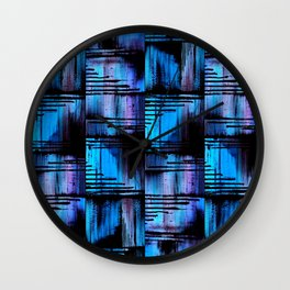 Blue Friends (1) Wall Clock