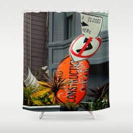 That's The Signpost Up Ahead... Shower Curtain