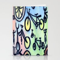 bikes Stationery Cards featuring Bikes by JustinPotts