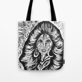 Smile Now Cry Later BW Tote Bag