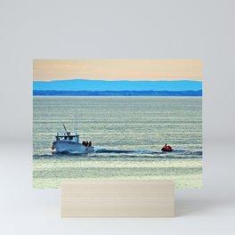 Fun with a Lobster Boat Mini Art Print