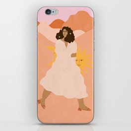 Don't look back in sadness iPhone Skin