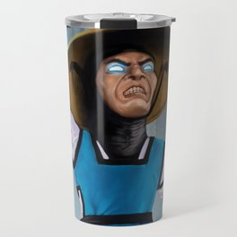 Caricature of Raiden Travel Mug