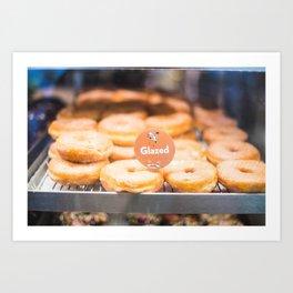 Glazed Morning Donuts Art Print