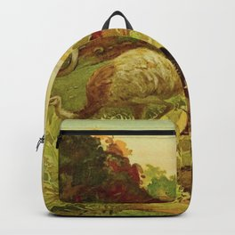 Amazonian birds by Göldi & Emil 1859-1917 Belem Brazil Colorful Tropical Birds Backpack