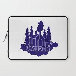 Walden - Henry David Thoreau (Blue version) Laptop Sleeve