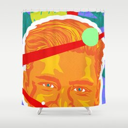 ZACK :: Memphis Design :: Saved By the Bell Series Shower Curtain