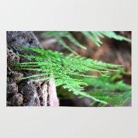 fern Area & Throw Rugs featuring fern by  Agostino Lo Coco