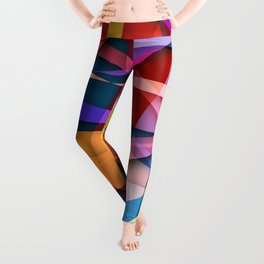 Abstract #358 Leggings