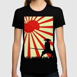 Japanese Art Sun Samurai Warrior Bushido Martial Arts T-shirt