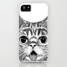 Tongue Out Cat iPhone (5, 5s) Slim Case