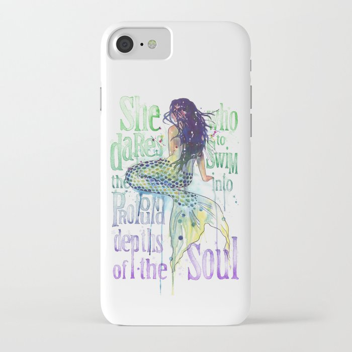 mermaid : profound depths iphone case