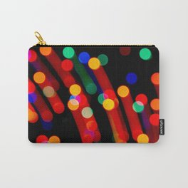 Bokeh Christmas Lights With Light Trails Carry-All Pouch