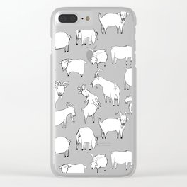 Charity fundraiser - Grey Goats Clear iPhone Case
