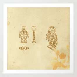 Lego Skeleton Art Print