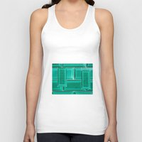 architecture Tank Tops featuring ARCHITECTURE by BIGEHIBI