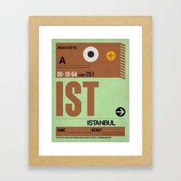 IST Istanbul Luggage Tag 2 Framed Art Print