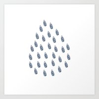 salt water Art Prints featuring salt water drops by Indiepeek