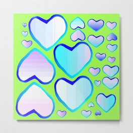 Garden of  hearts Metal Print
