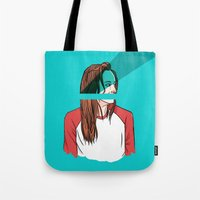 danny ivan Tote Bags featuring danny lawrence by Ana Rocha