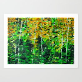 """Autumn Woodland"" Original Painting by Julia Barnickle Art Print"