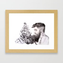 Sailor's Beard Framed Art Print
