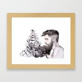 Sailor's Beard Framed Art Print