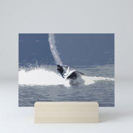 Wild Jet-Skier Mini Art Print
