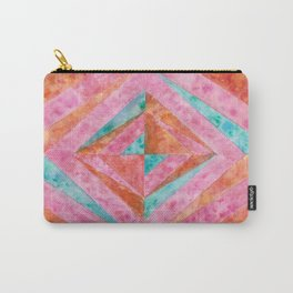 """Ruby Rust"" - Geometric Watercolor Painting Carry-All Pouch"