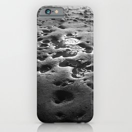 Black and White Puddles in Hawaii Sand iPhone Case