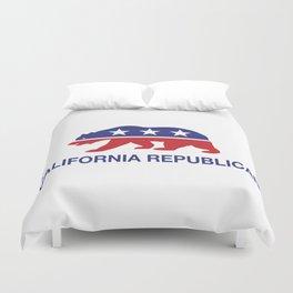 California Political Republican Bear  Duvet Cover