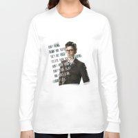 david tennant Long Sleeve T-shirts featuring DON'T BLINK! David Tennant - Doctor Who by KanaHyde