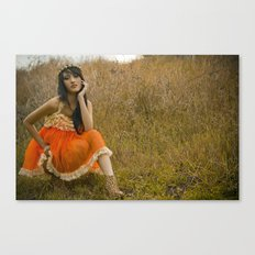 Ruffles and Cheetah print Canvas Print