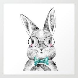 Bunny with Bowtie Art Print