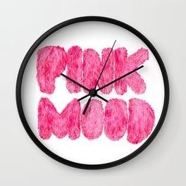 Pink Mood Wall Clock