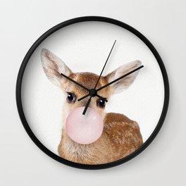 Bubble Gum Baby Deer Wall Clock
