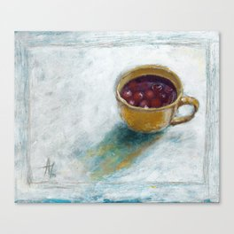 Cherry compote in my cup Canvas Print