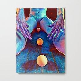 4997-AK Pastel Rendered Nude with Eggs Between Her Legs by Chris Maher Metal Print