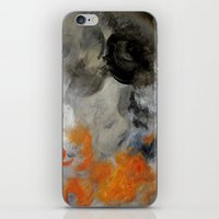 imagerybydianna iPhone & iPod Skins featuring empty hurricane fires by Imagery by dianna