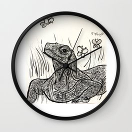 Komodo Dragon Basking in Beauty Wall Clock